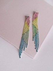 Vertical Rainbow Earrings