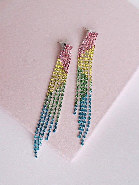 Vertical Rainbow Earrings
