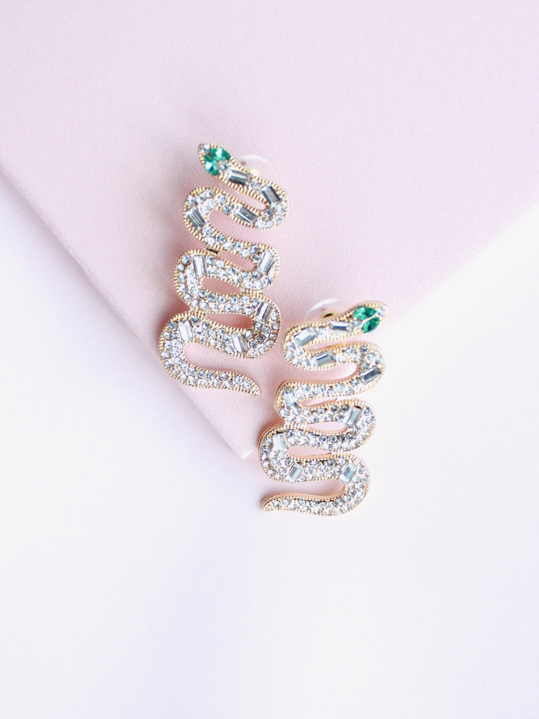 Stone Snake Earrings