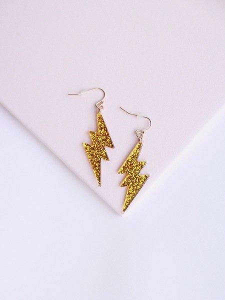 Sparkly Bolt Earrings