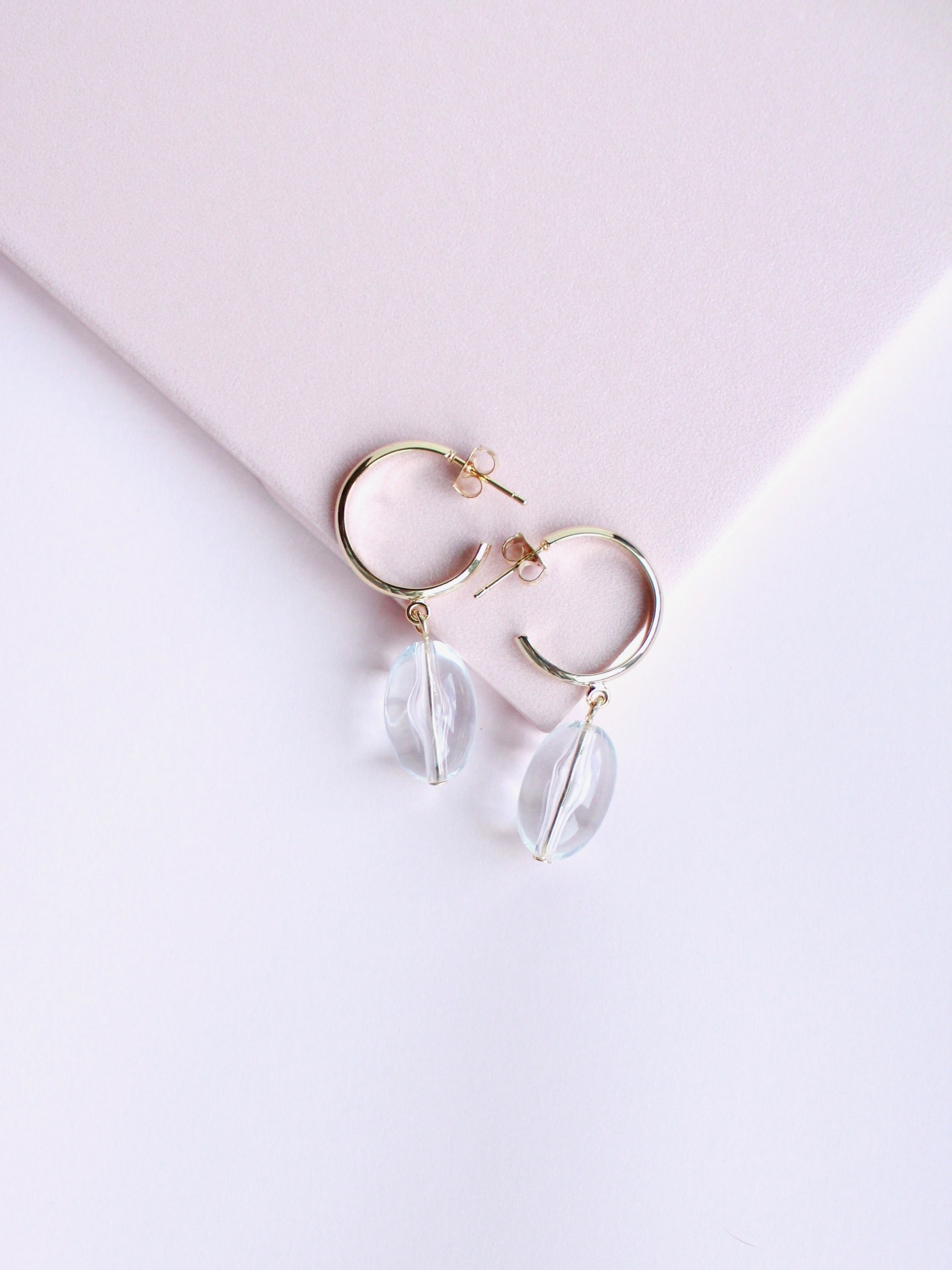 Little Hoop Drop Earrings