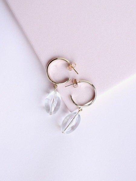 Little Hoop Drop Earrings