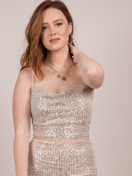 Glisten Top Sparkly Sequin Tank