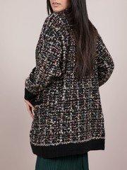 Athena Shiny Cardigan - Tinsel Stitched Fuzzy Layer