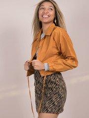 Lillian Jacket Yellow Crop Windbreaker