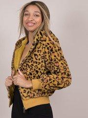 Keily Leopard Jacket  Bold Zip Up Hoodie
