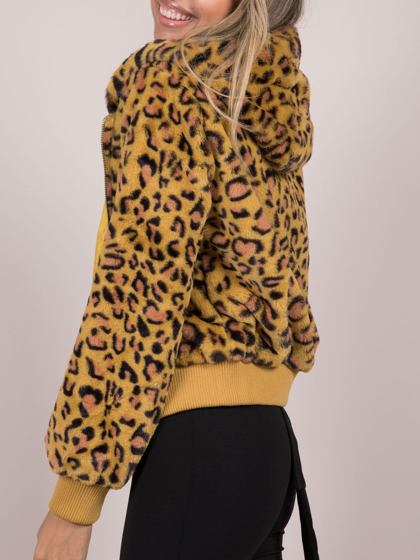 Bold Zip Up HoodieaKeily Leopard Jacket  Bold Zip Up Hoodie