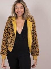 Keily Leopard Jacket  Bold Zip Up Hoodie Front