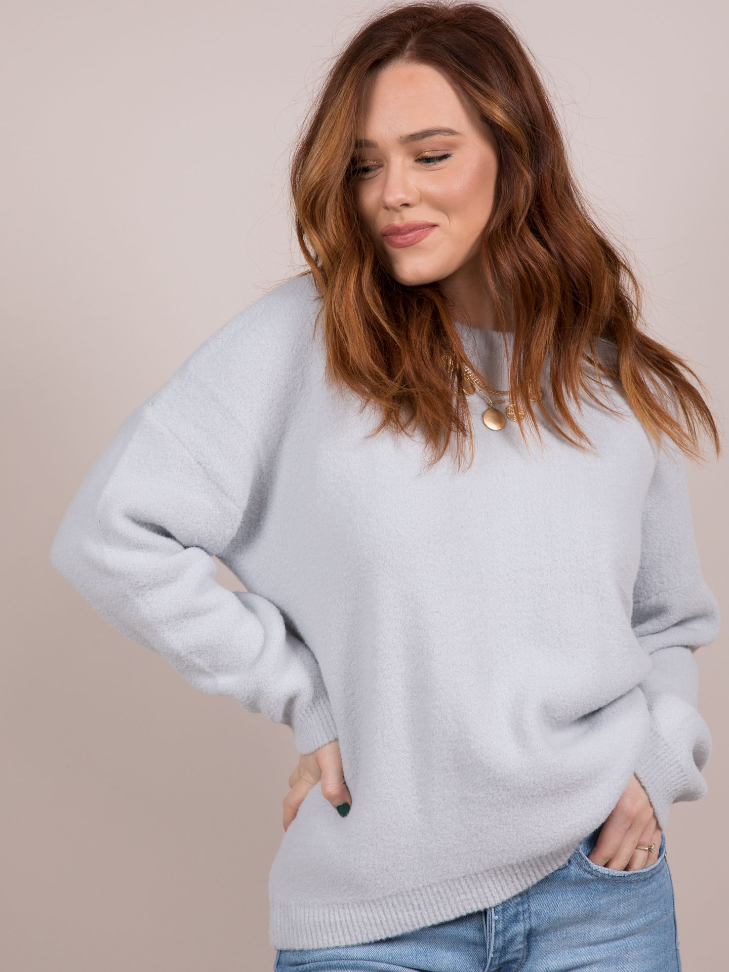 Lovesome Sweater Silver Front