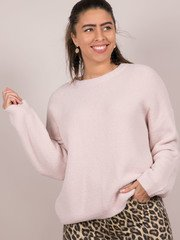 Lovesome Sweater Light Pink Front
