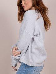 Lovesome Sweater Silver Side