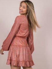 Alexa Sparkle Dress Glitter Party Ruffle Dress