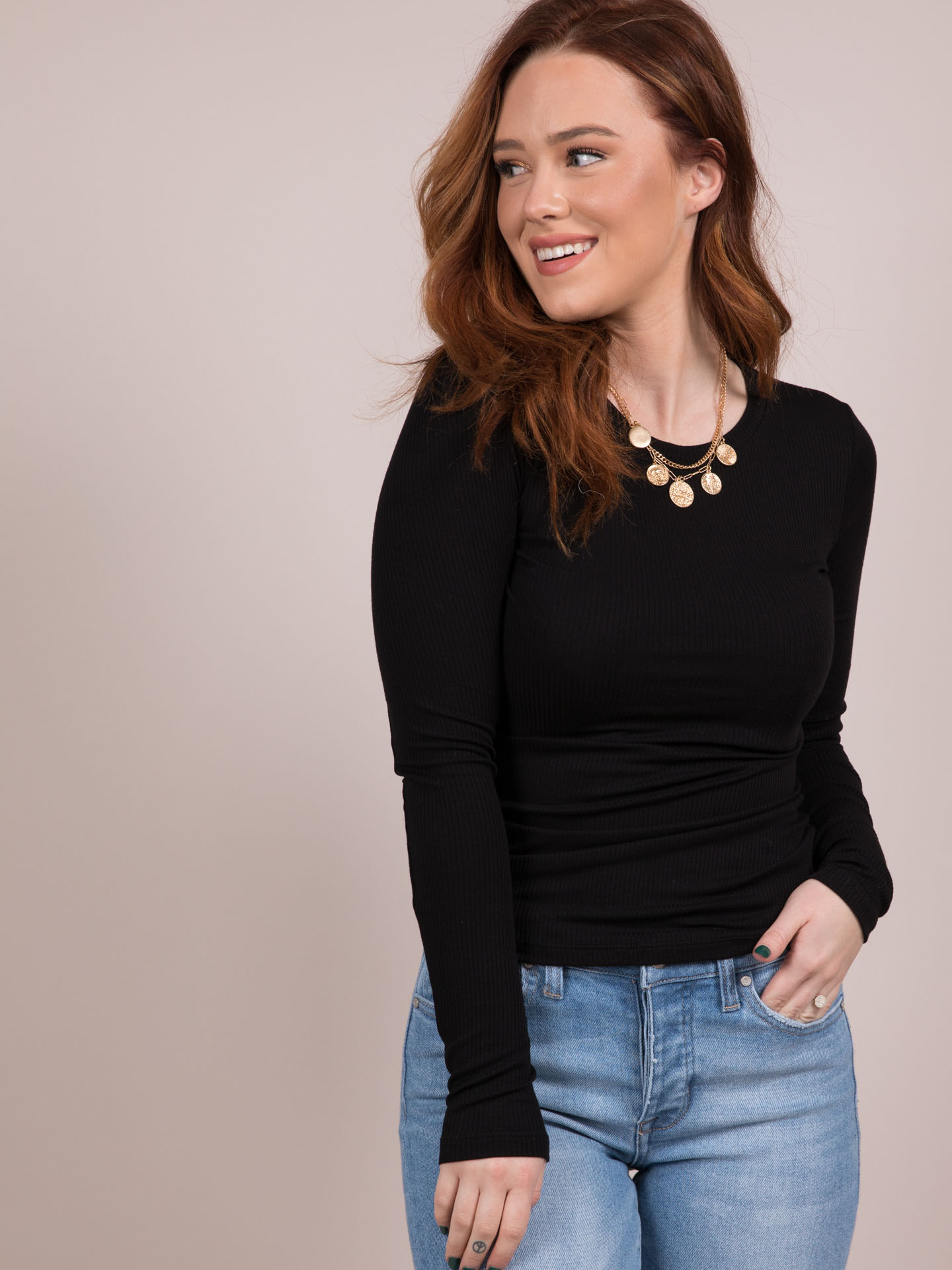Brennan Top Long Sleeve Basic Black
