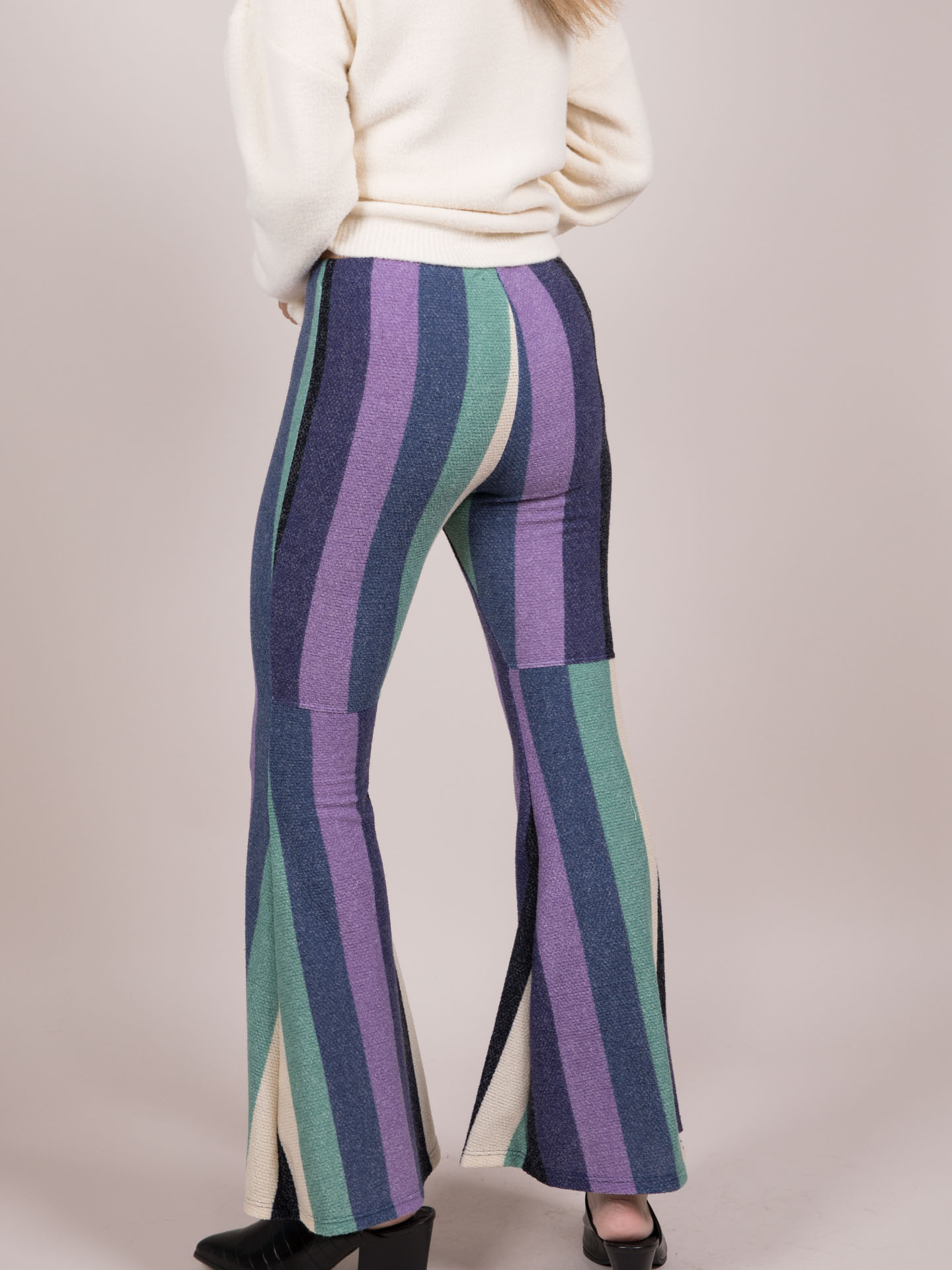 Make a Fuss Pants Striped Sweater Leggings