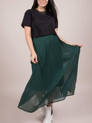 Vanessa Maxi Skirt Shutter Green High Rise