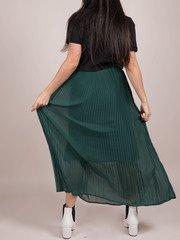 Vanessa Maxi Skirt Shutter Green High Rise Back