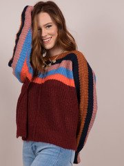 Basket Case Sweater Striped Knitted