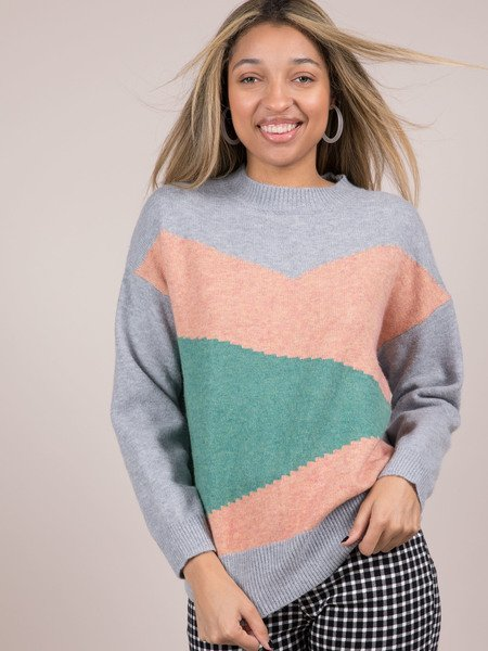 Vivienne Sweater Color High Neck