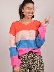 Briella Bright Sweater Striped Front