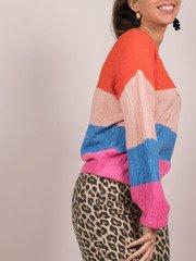 Briella Bright Sweater Striped Side