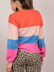 Briella Bright Sweater Striped Back