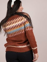 Evie Sweater Multi Pattern Christmas Sweater