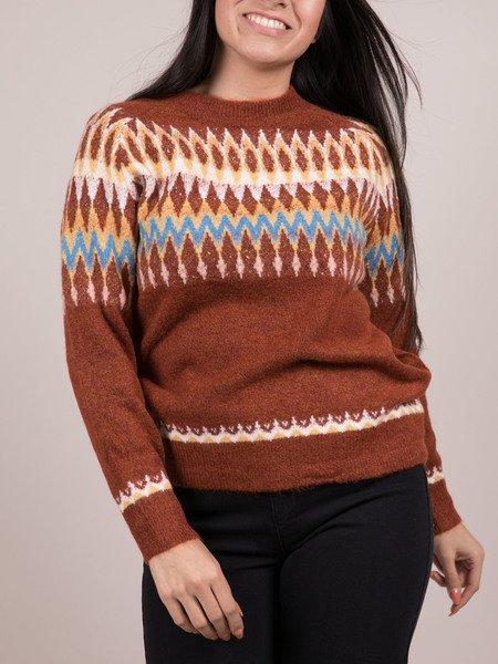 Evie Sweater Multi Pattern Christmas Sweater