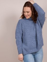 Blakely Blue Turtleneck Sweater Front 2