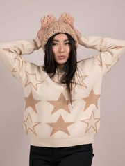 Seeing Stars Sweater Cozy Star Pattern Top