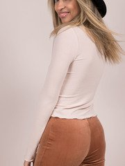 Morgan Top Turtleneck Basic Back