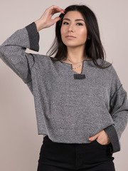 Concrete Top Chic But Grunge Long Sleeve