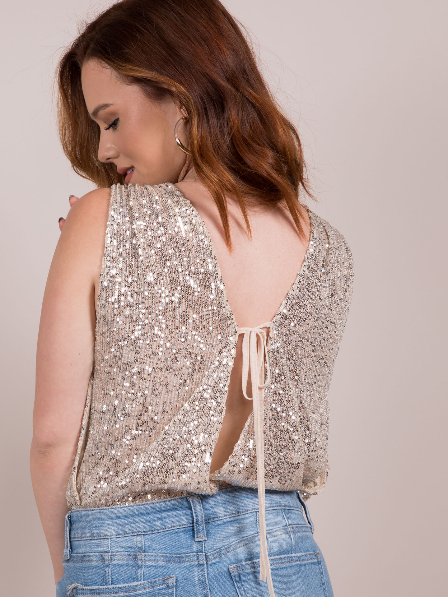 Jordyn Top  Sequin Covered One Piece