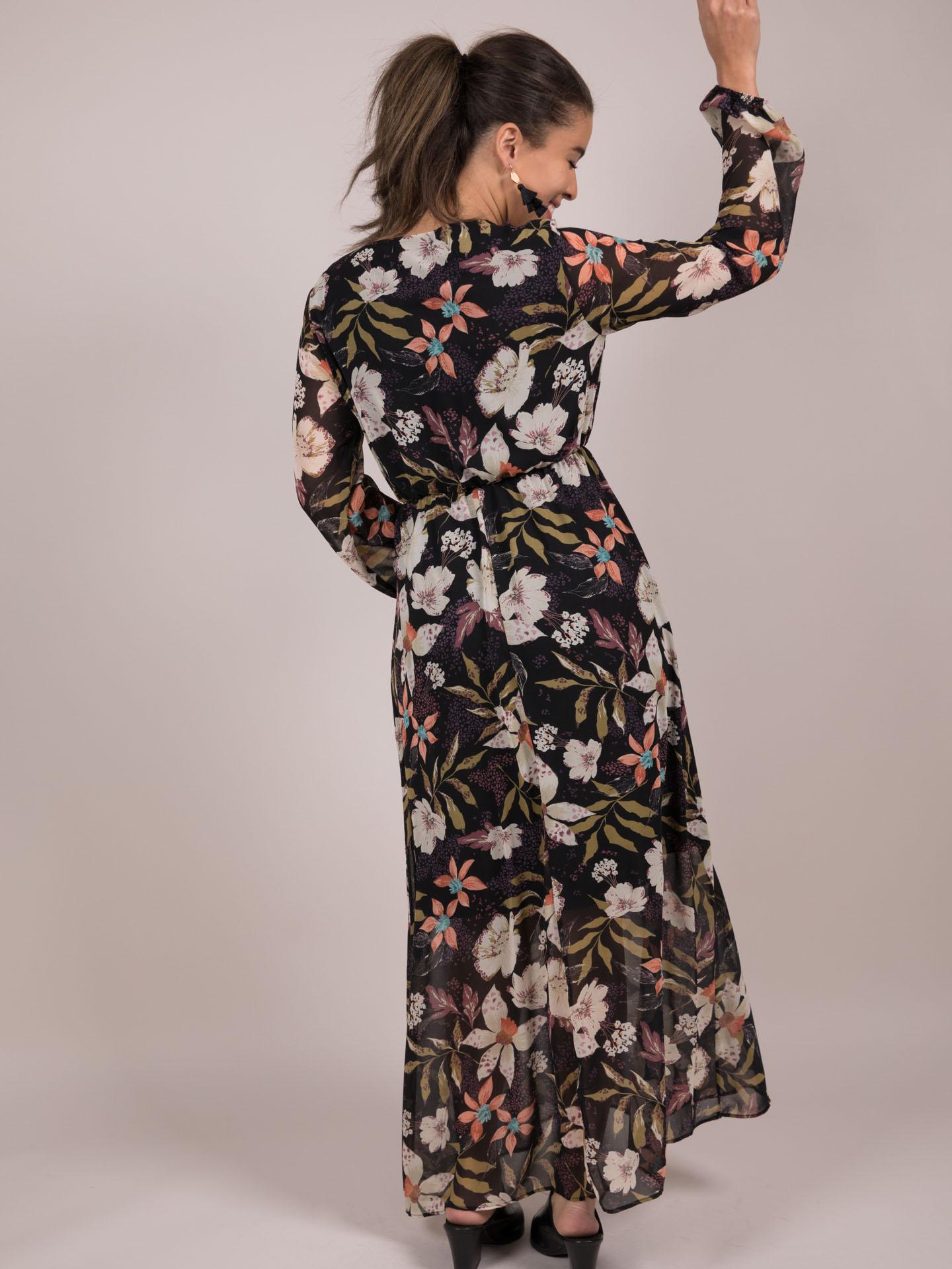 Greta Dress  Floral Long Sleeve Maxi