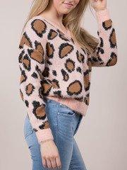 Leopard Fuzzy Sweater Fierce Furry Layer Piece Side