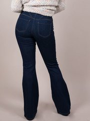 Slip On Dark Denim Bell Bottoms Duvall Flare