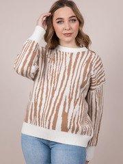 Zebra Pattern LeBlanc Sweater