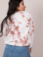 Raspberry Top Long Sleeve Tie Dye Basic Back