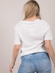 Merril Thermal Tee Ribbed Basic White Basic