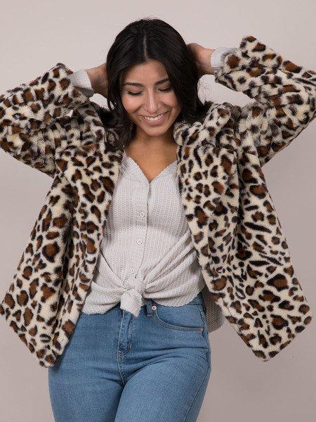 Show Stopper Jacket Leopard Faux Fur