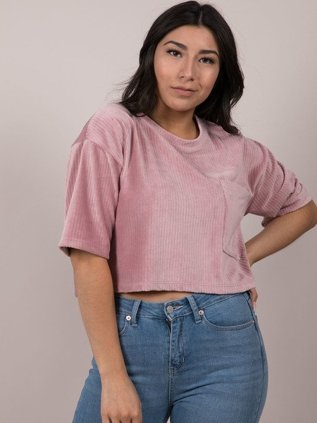 Keen Top Velvety Rose Crop Top Front
