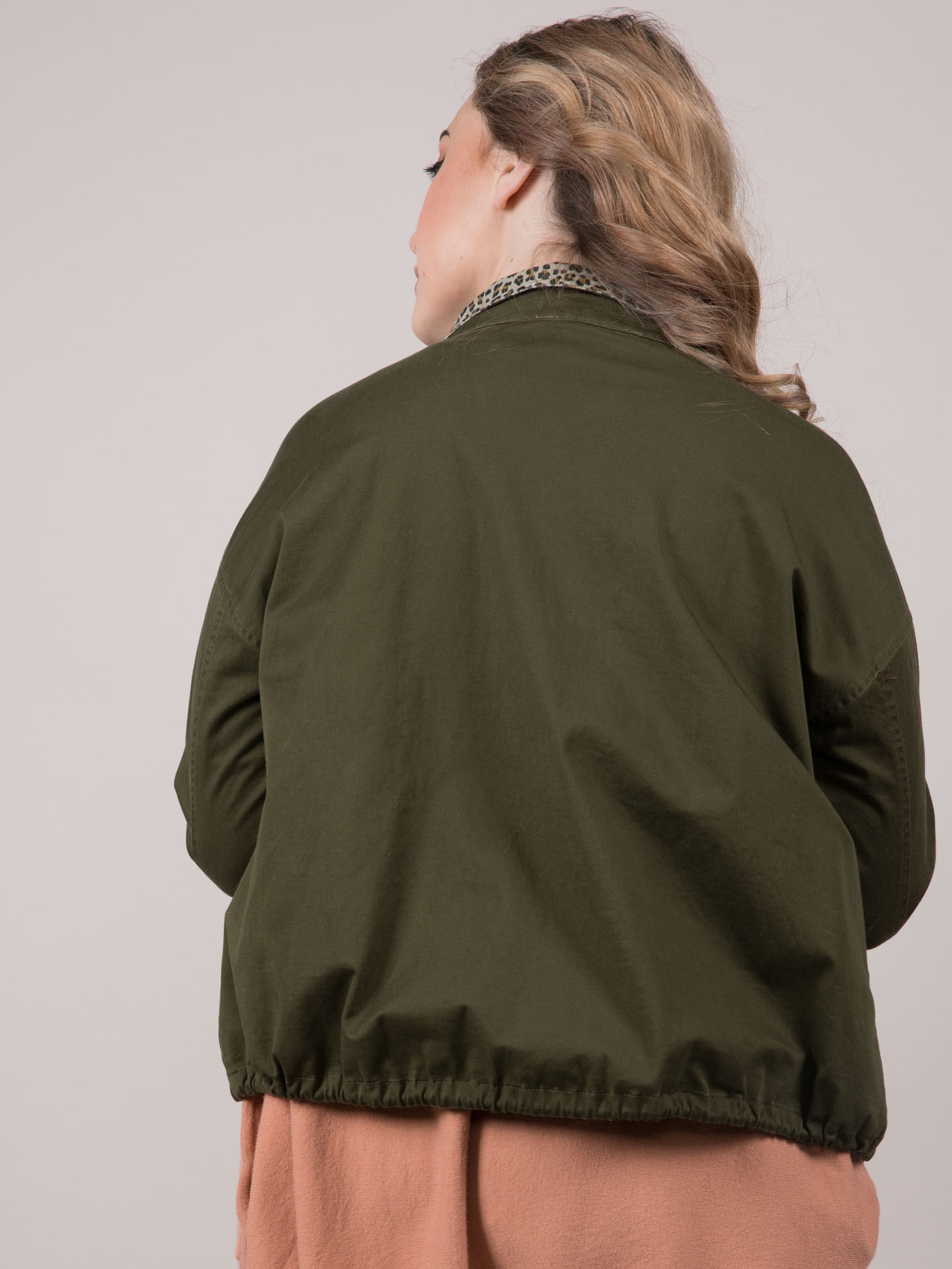 Wendy Jacket Cheetah Lined Olive
