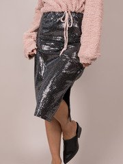 Elsa Sparkle Skirt  Sequins Midi Body Con