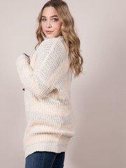 Below Zero Cardigan Fuzzy Knit Long Layer