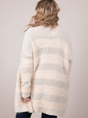 Below Zero Cardigan Fuzzy Knit Long Layer Back