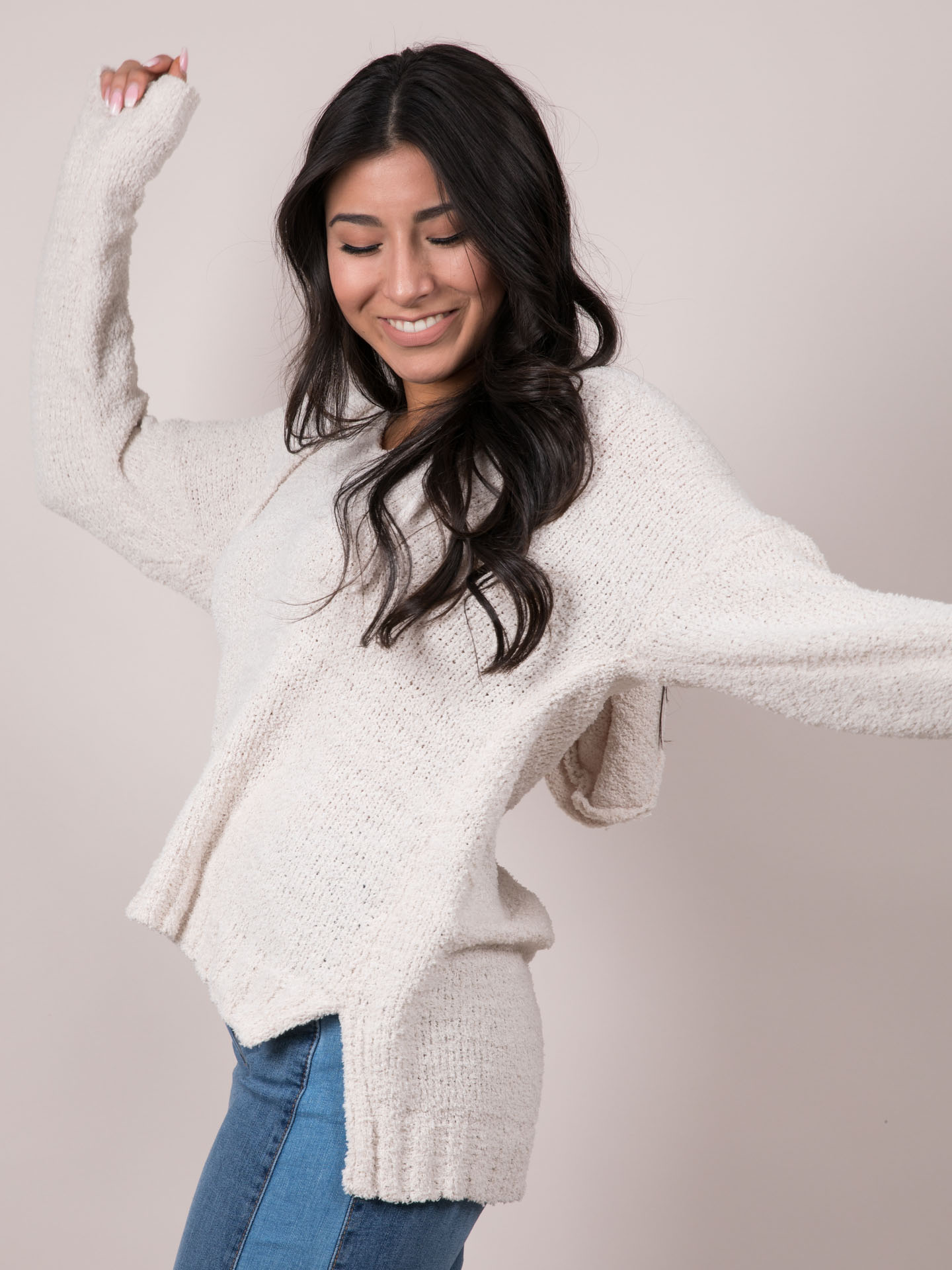 Whitney Hoodie Oversized Knitted Sweater