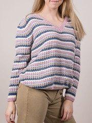 Soft Knit Pastel Striped Carol Sweater