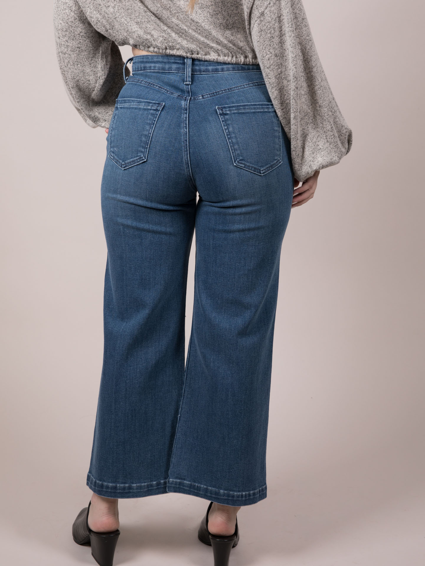 Wide Leg Crops Maxine Jeans Back