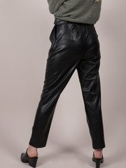 Faux Leather Soft Lining Black Arielle Pants