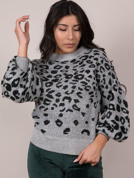 Spot Balloon Sleeve Evie Sweater
