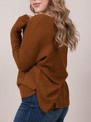 Brown Side Elana Sweater
